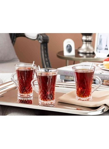 Madame Coco Felecia 4'lü Çay Fincanı Renkli